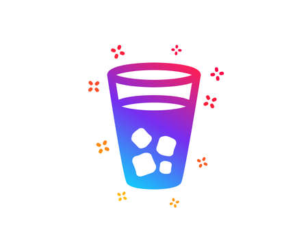 Ice tea icon. Soda drink sign. Fresh cold beverage symbol. Dynamic shapes. Gradient design ice tea icon. Classic style. Vector Illusztráció