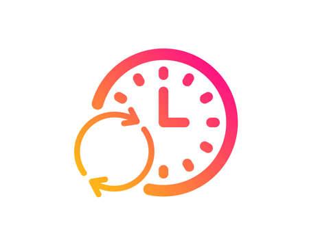 Zeitsymbol. Uhr- oder Fristsymbol aktualisieren. Zeitmanagement-Zeichen. Klassischer flacher Stil. Symbol für die Aktualisierungszeit des Farbverlaufs Vektor Vektorgrafik