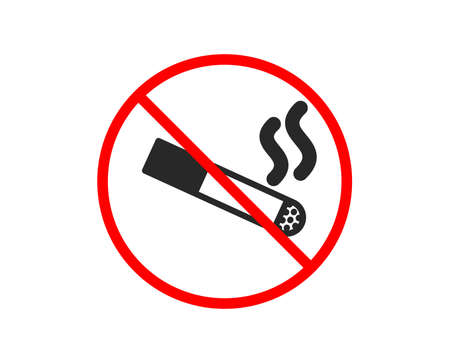 No or Stop. Smoking area icon. Cigarette sign. Smokers zone symbol. Prohibited ban stop symbol. No smoking icon. Vector Illustration