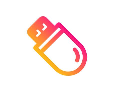 Usb stick icon. Computer memory component sign. Data storage symbol. Classic flat style. Gradient usb stick icon. Vector
