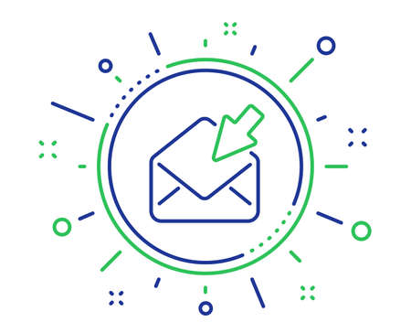 Open Mail line icon. View Message correspondence sign. E-mail symbol. Quality design elements. Technology open Mail button. Editable stroke. Vector Çizim