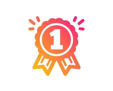 Reward Medal icon. Winner achievement or Award symbol. Glory or Honor sign. Classic flat style. Gradient reward icon. Vector