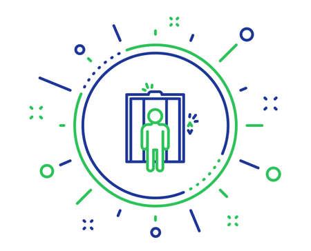 Lift line icon. Elevator sign. Transportation between floors symbol. Quality design elements. Technology elevator button. Editable stroke. Vector
