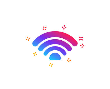Wifi icon. Wi-fi internet sign. Wireless network symbol. Dynamic shapes. Gradient design wifi icon. Classic style. Vector Illustration