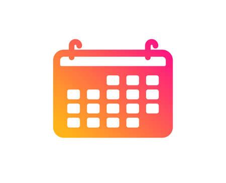 Calendar icon. Accounting sign. Calculate finance symbol. Business audit. Classic flat style. Gradient calendar icon. Vector Illusztráció
