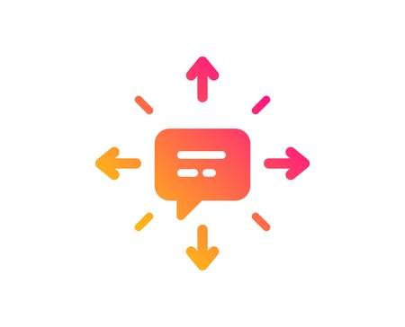 Conversation icon. Chat Messages or SMS sign. Communication symbol. Classic flat style. Gradient sMS icon. Vector 向量圖像
