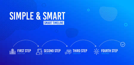 Infographic timeline. Quick tips, Chemistry lab and Hospital building icons simple set. Face biometrics sign. Helpful tricks, Medical laboratory, Medical help. Facial recognition. Science set. Vector