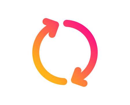 Refresh arrow icon. Rotation Arrowhead symbol. Navigation pointer sign. Classic flat style. Gradient refresh icon. Vector