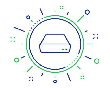 Mini pc line icon. Small computer device sign. Quality design elements. Technology mini pc button. Editable stroke. Vector