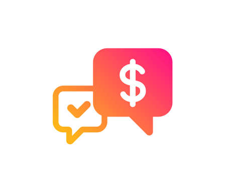 Payment receive icon. Dollar exchange sign. Finance symbol. Classic flat style. Gradient payment received icon. Vector Illustration