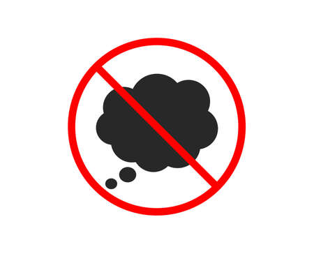 No or Stop. Comic Speech bubble icon. Chat sign. Communication or Comment symbol. Prohibited ban stop symbol. No comic message icon. Vector Illustration