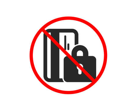 No or Stop. Blocked credit card icon. Bank money sign. Prohibited ban stop symbol. No blocked card icon. Vector