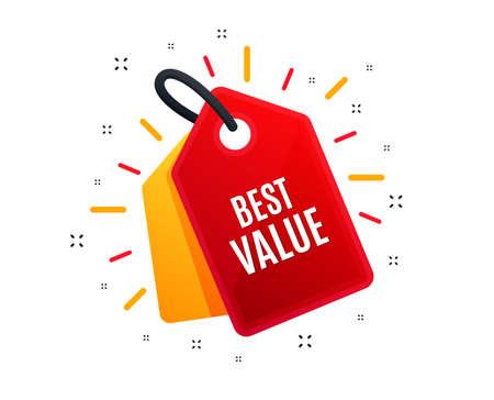 Sale tag. Best value. Special offer Sale sign. Advertising Discounts symbol. Shopping banner. Market offer. Vector Illustration