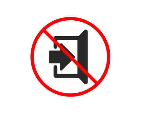 No or Stop. Exit icon. Open door sign. Entrance symbol with arrow. Prohibited ban stop symbol. No exit icon. Vector
