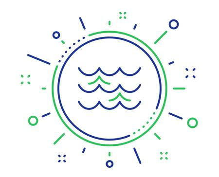Waves line icon. Sea flowing sign. Water symbol. Quality design elements. Technology waves button. Editable stroke. Vector