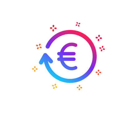 Euro Money exchange icon. Banking currency sign. EUR Cash symbol. Dynamic shapes. Gradient design exchange currency icon. Classic style. Vector
