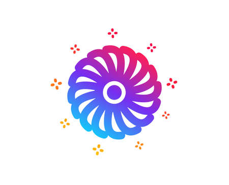 Fan engine icon. Jet turbine sign. Ventilator symbol. Dynamic shapes. Gradient design fan engine icon. Classic style. Vector  イラスト・ベクター素材