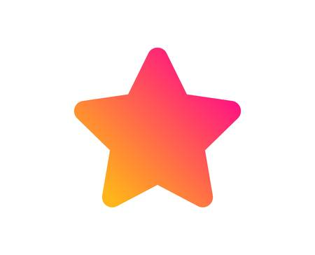 Star icon. Best rank sign. Bookmark or Favorite symbol. Classic flat style. Gradient star icon. Vector Çizim