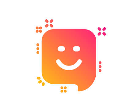 Smile icon. Positive feedback rating sign. Customer satisfaction symbol. Classic flat style. Gradient smile icon. Vector Illustration