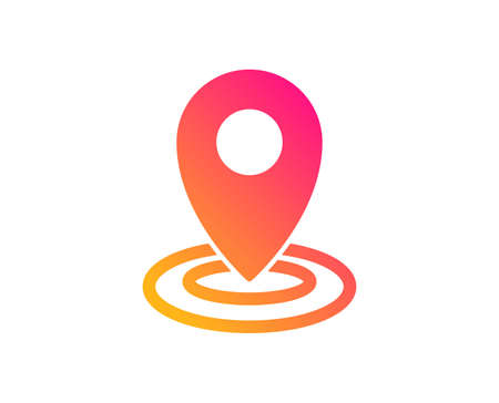 Location icon. Map pointer sign. Classic flat style. Gradient location icon. Vector Ilustrace