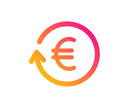 Euro Money exchange icon. Banking currency sign. EUR Cash symbol. Classic flat style. Gradient exchange currency icon. Vector