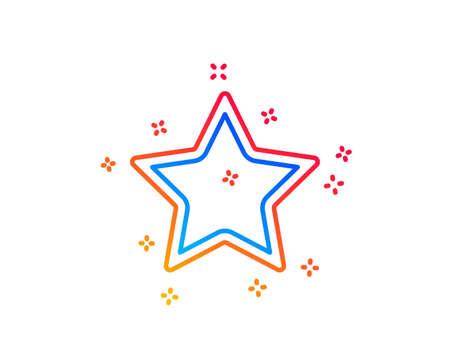 Star line icon. Best rank sign. Bookmark or Favorite symbol. Gradient design elements. Linear star icon. Random shapes. Vector Illusztráció