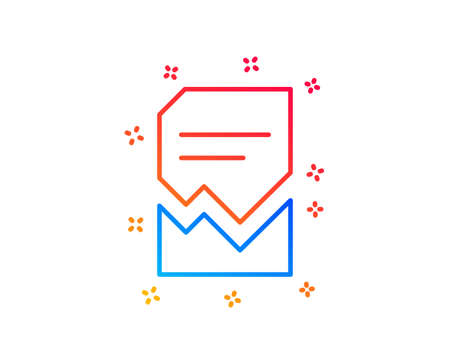Corrupted Document line icon. Bad File sign. Paper page concept symbol. Gradient design elements. Linear corrupted file icon. Random shapes. Vector Illustration