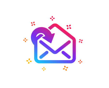 Receive Mail download icon. Incoming Messages correspondence sign. E-mail symbol. Dynamic shapes. Gradient design receive Mail icon. Classic style. Vector