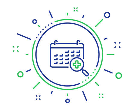 Medical calendar line icon. Doctor appointment sign. Quality design elements. Technology medical calendar button. Editable stroke. Vector
