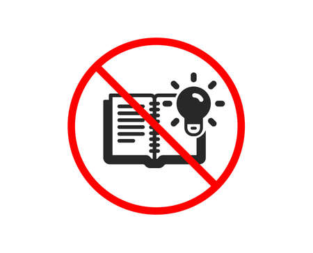 No or Stop. Product knowledge icon. Education process sign. Prohibited ban stop symbol. No product knowledge icon. Vector