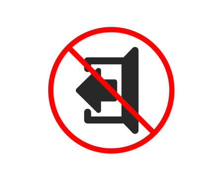 No or Stop. Logout arrow icon. Sign out symbol. Navigation pointer. Prohibited ban stop symbol. No sign out icon. Vector