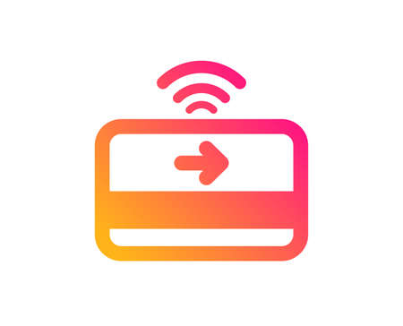 Contactless payment icon. Credit card sign. Finance symbol. Classic flat style. Gradient contactless payment icon. Vector