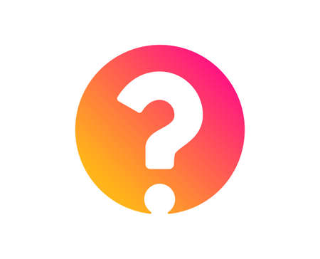 Question mark icon. Support help sign. FAQ symbol. Classic flat style. Gradient question mark icon. Vector