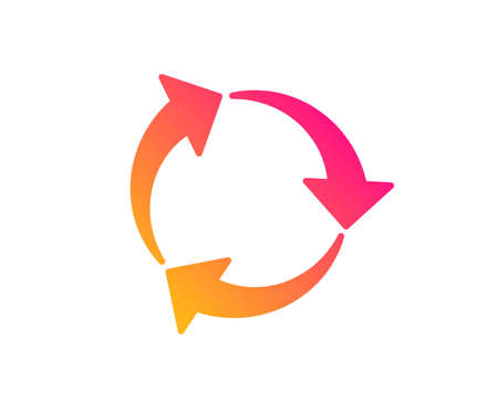 Recycle arrow icon. Recycling waste symbol. Reduce and Reuse sign. Classic flat style. Gradient recycle icon. Vector