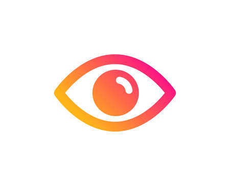 Eye icon. Look or Optical Vision sign. View or Watch symbol. Classic flat style. Gradient eye icon. Vector Çizim