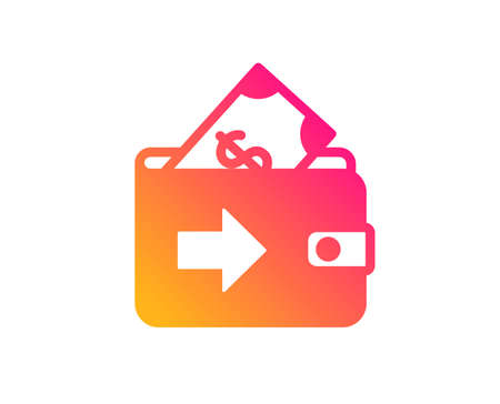 Wallet icon. Money payment sign. Dollar finance symbol. Classic flat style. Gradient wallet icon. Vector Stok Fotoğraf - 123562358