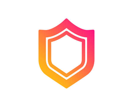 Shield icon. Protection or Security sign. Defence or Guard symbol. Classic flat style. Gradient security icon. Vector Illustration