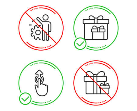 Do Or Stop Delivery Boxes Swipe Up And Employee Icons Simple