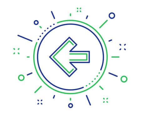 Left arrow line icon. Direction Arrowhead symbol. Navigation pointer sign. Quality design elements. Technology left arrow button. Editable stroke. Vector