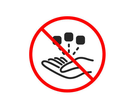 No or Stop. Consolidation icon. Business strategy sign. Prohibited ban stop symbol. No consolidation icon. Vector