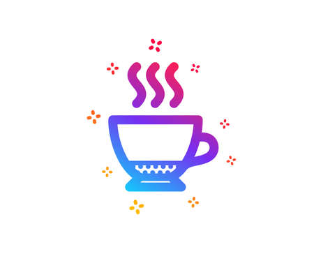 Espresso coffee icon. Hot drink sign. Beverage symbol. Dynamic shapes. Gradient design espresso icon. Classic style. Vector Illusztráció