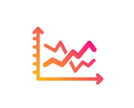 Diagram chart icon. Presentation graph sign. Market analytics symbol. Classic flat style. Gradient diagram chart icon. Vector