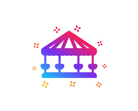 Carousels icon. Amusement park sign. Dynamic shapes. Gradient design carousels icon. Classic style. Vector