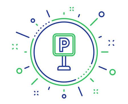 Parking line icon. Car park sign. Transport place symbol. Quality design elements. Technology parking button. Editable stroke. Vector