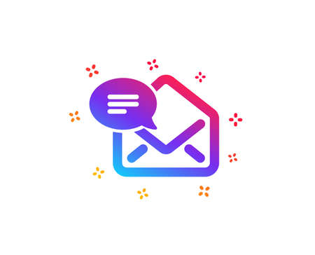 New Mail icon. Message correspondence sign. E-mail symbol. Dynamic shapes. Gradient design new Mail icon. Classic style. Vector Stock Vector - 120951001