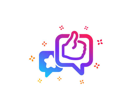 Star, like hand icon. Feedback rating sign. Customer satisfaction symbol. Dynamic shapes. Gradient design like icon. Classic style. Vector Vektorové ilustrace