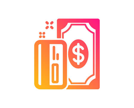 Money icon. Payment methods sign. Credit card symbol. Classic flat style. Gradient payment icon. Vector 일러스트