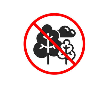 No or Stop. Tree icon. Forest plants sign. Nature symbol. Prohibited ban stop symbol. No tree icon. Vector Stock Vector - 123152021