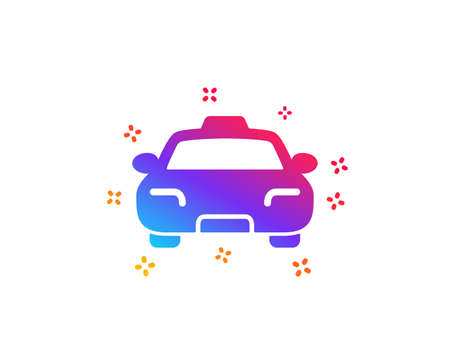 Taxi icon. Client transportation sign. Passengers car symbol. Dynamic shapes. Gradient design taxi icon. Classic style. Vector