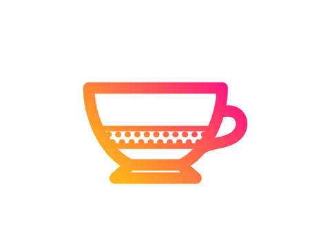 Bombon coffee icon. Hot drink sign. Beverage symbol. Classic flat style. Gradient bombon coffee icon. Vector